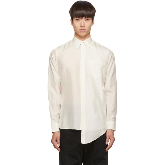 Givenchy Chemise en soie blanc casse