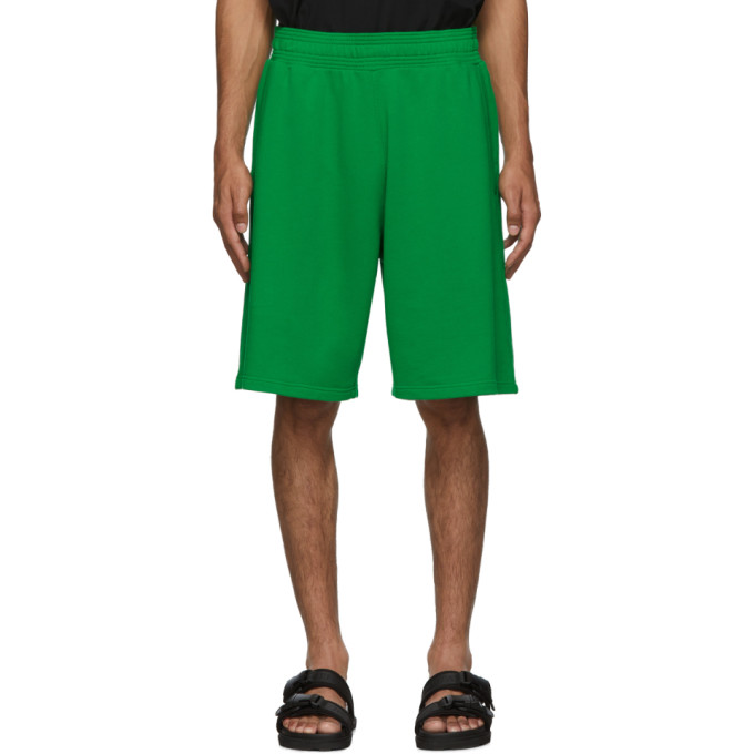 Givenchy Green Logo Shorts