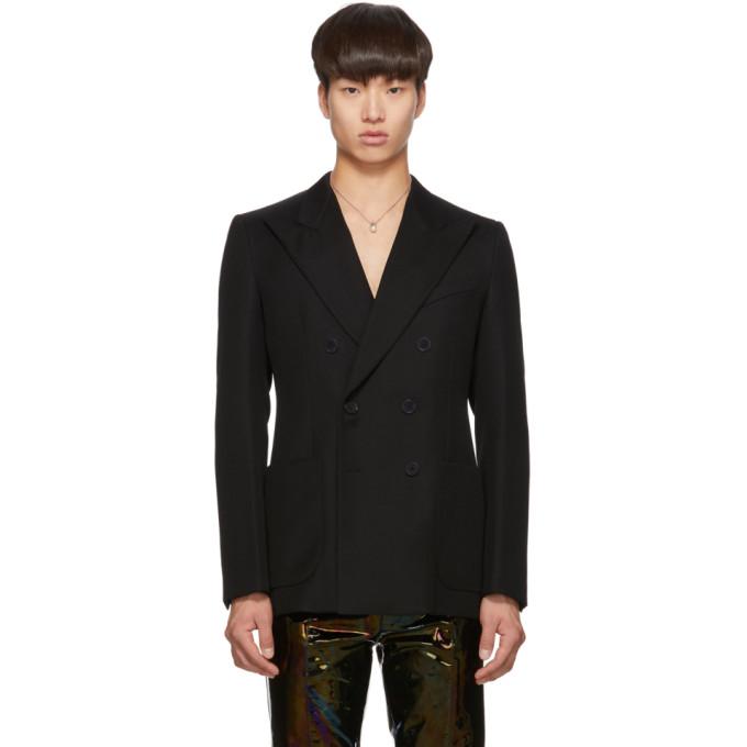 Givenchy ブラック ウール パーリー ボタン ブレザー