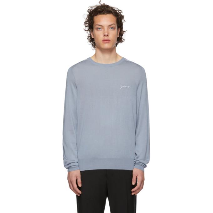 Givenchy ブルー シルク シグネチャ セーター
