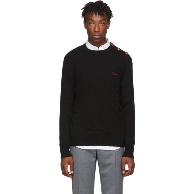 Givenchy Black Cashmere Signature Logo Sweater