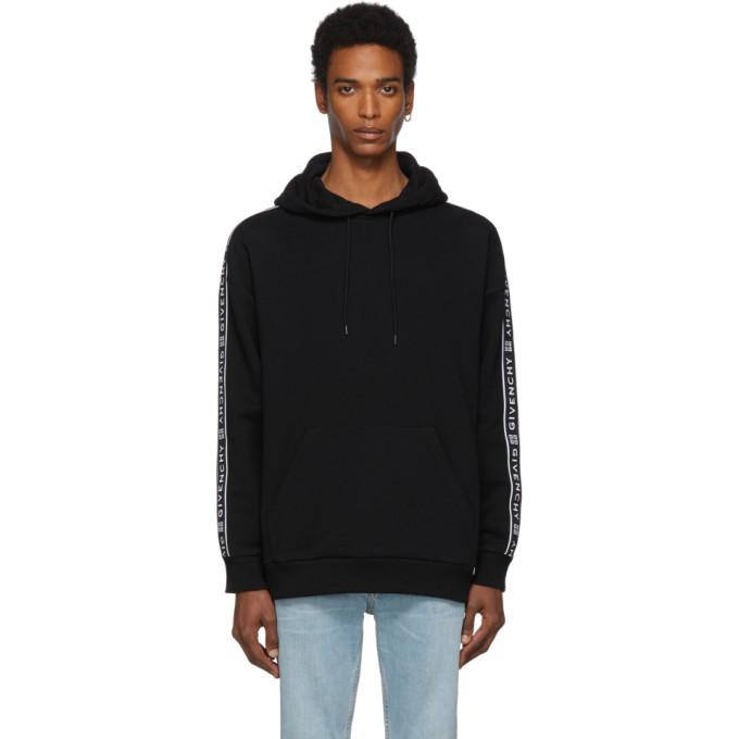 fd399d605793 Givenchy Black 4G Webbing Hoodie In 001 Black | ModeSens