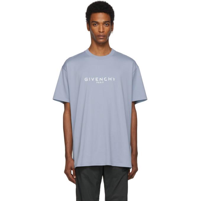 Givenchy Blue Oversized Paris Vintage T-Shirt