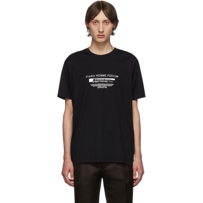Givenchy Black Homme Podium T-Shirt