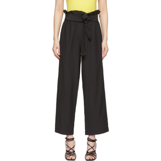 31 Phillip Lim Black Cropped Paperbag Trousers