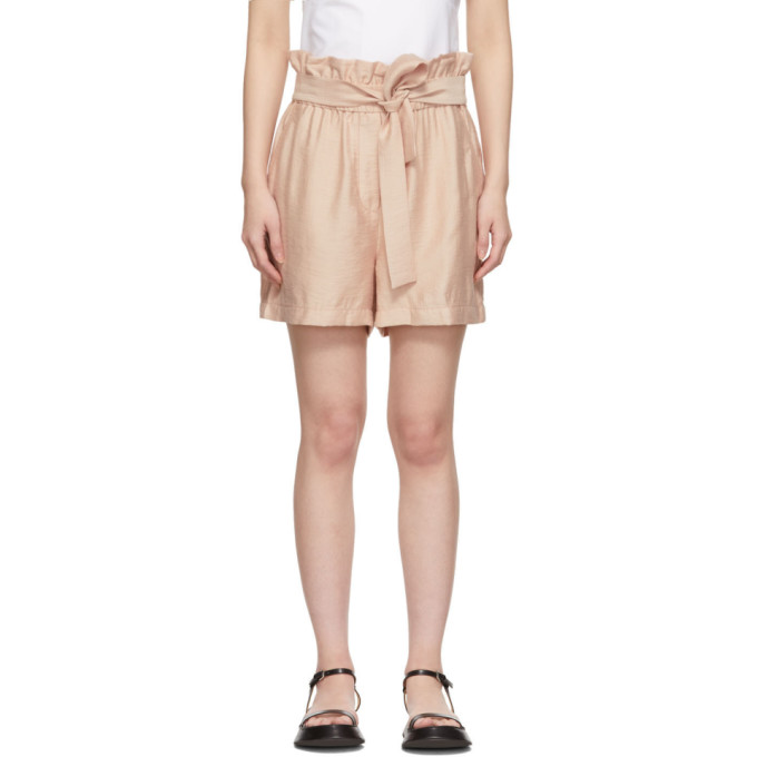 31 Phillip Lim Pink Paperbag Shorts 192283F08800201