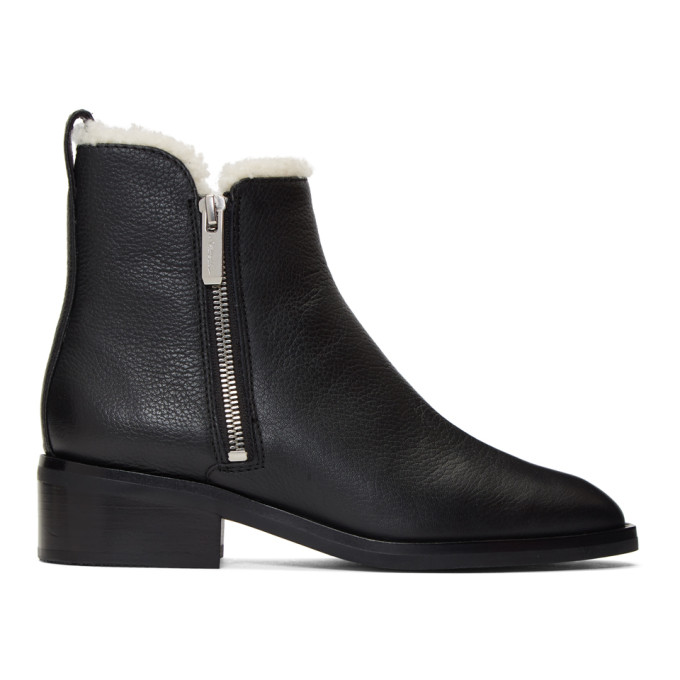 Buy 3.1 Phillip Lim Black Shearling Alexa Boots online