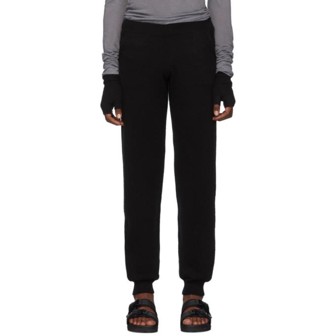 Frenckenberger Pantalon de survetement en cachemire noir