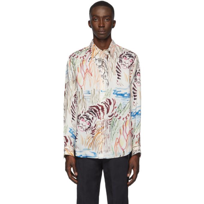 3.1 Phillip Lim White Tiger Souvenir Shirt