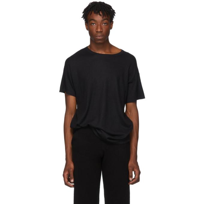 Frenckenberger T-shirt en cachemire noir