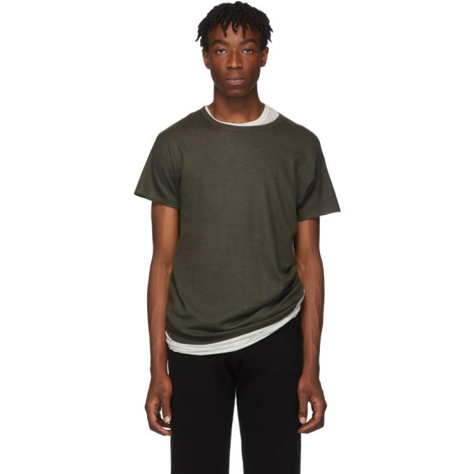 Frenckenberger T-shirt en cachemire vert