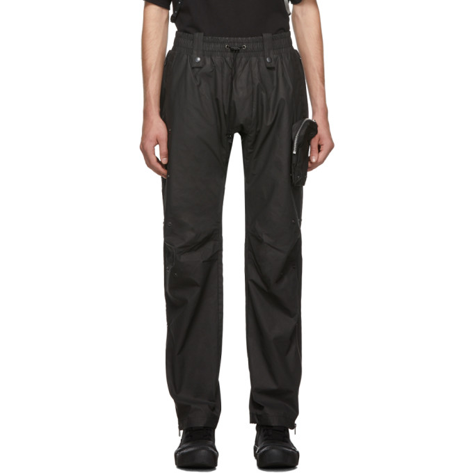 Blackmerle Pantalon a cordon coulissant noir