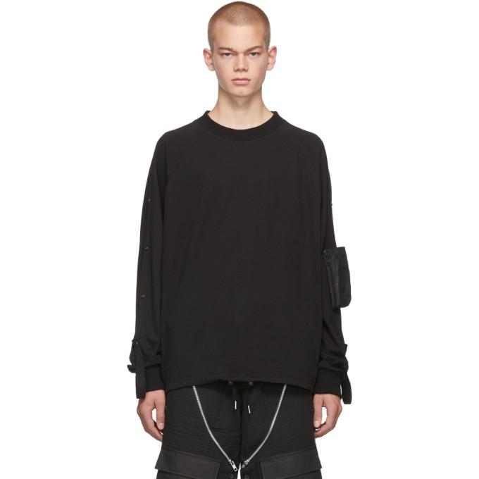Blackmerle T-shirt a manches longues et poche noir