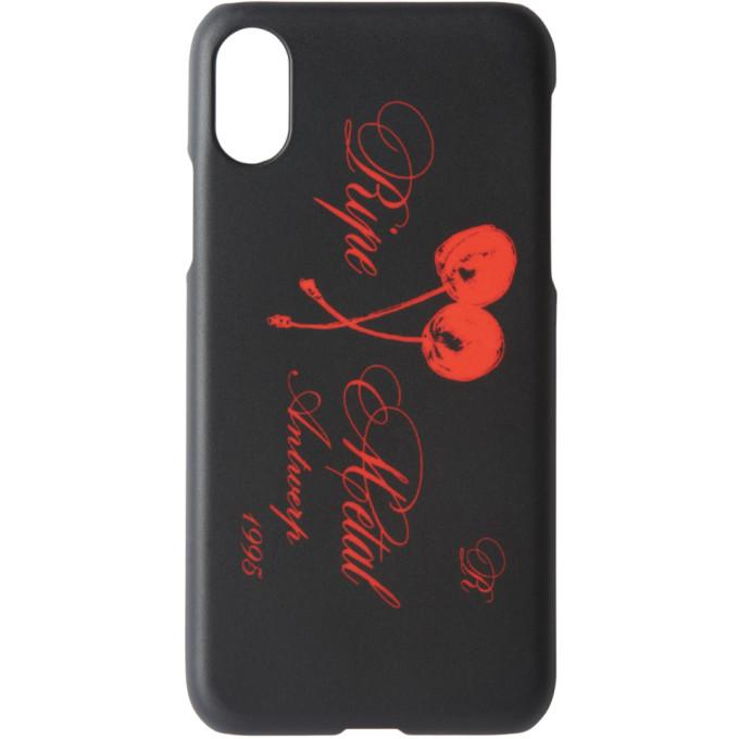 Raf Simons ブラック Ripe Metal iPhone X ケース