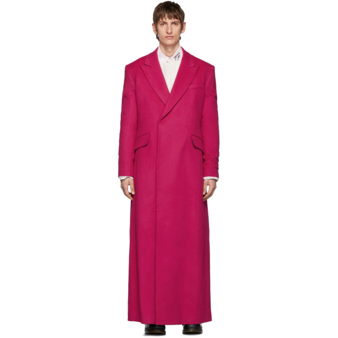 Raf Simons Double Breasted Long Coat In 20010