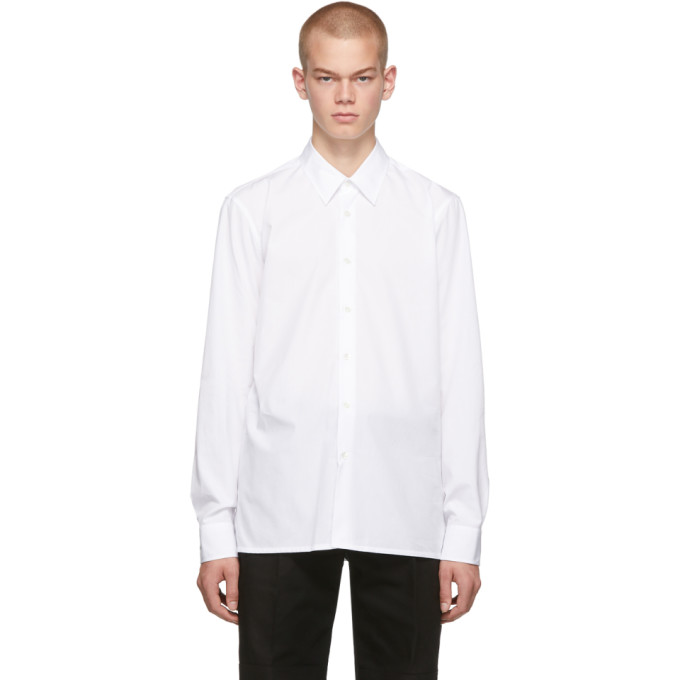 Raf Simons Chemise a logo blanche Slim Fit