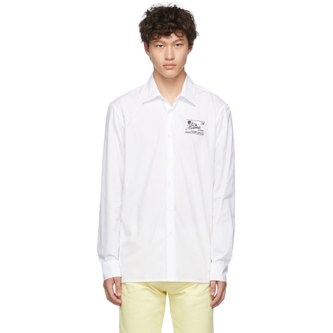 Raf Simons Chemise blanche Heroes and Losers Slim Fit
