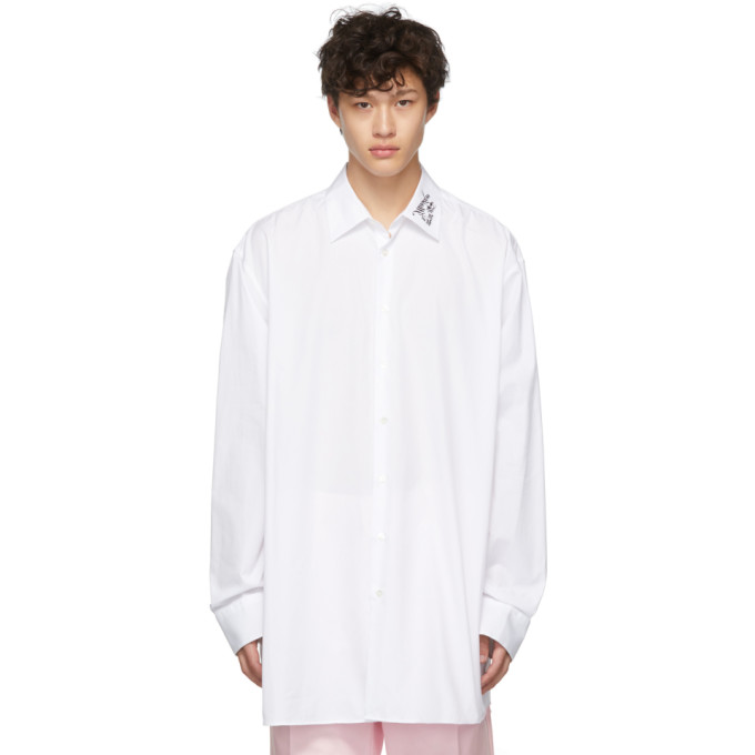 Raf Simons Chemise blanche Illusions Big Fit
