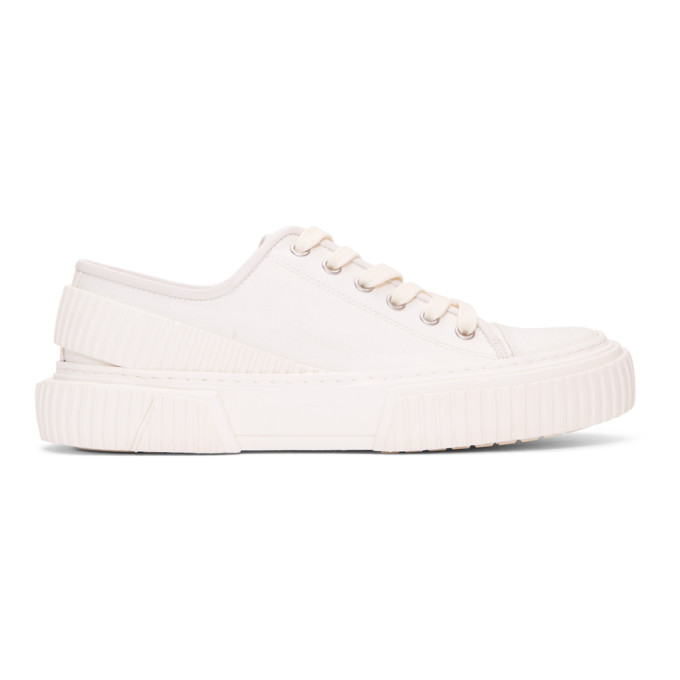 both White Pro-Tec Low Sneakers