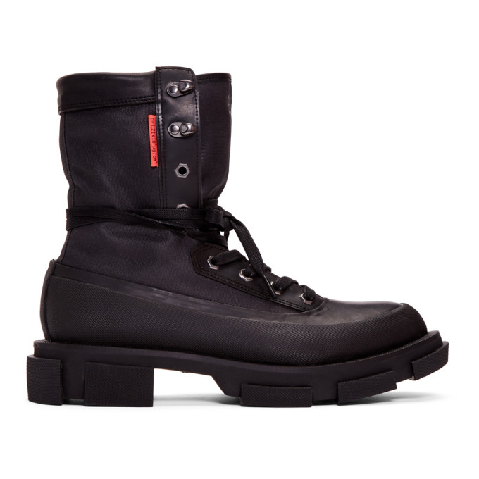 both Black Gao High Boots