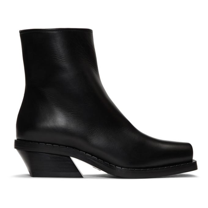 Proenza Schouler Black Square Toe Boots
