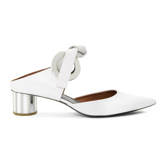 Proenza Schouler White Grommet Mirrored Heels
