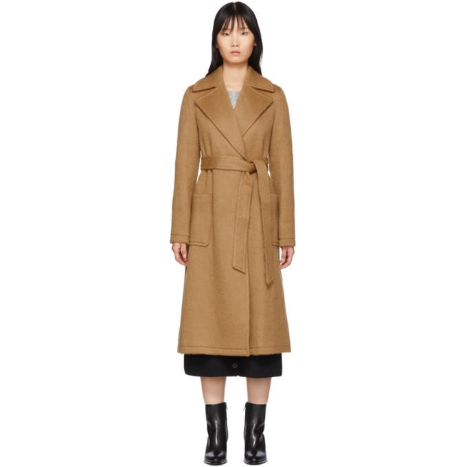 The Loom Manteau tisse en laine et mohair brun clair