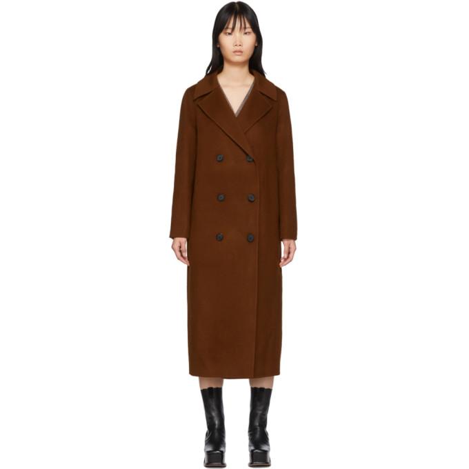 The Loom Manteau en laine brun Double