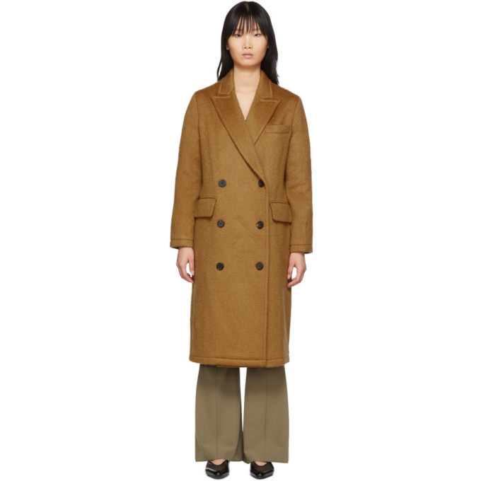 The Loom Manteau en mohair et laine brun clair Double