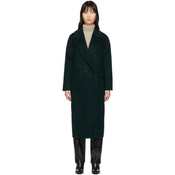 The Loom Manteau en laine vert Double