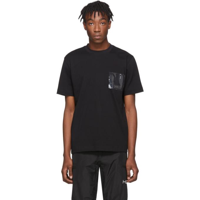 Heliot Emil T-shirt noir PVC Pocket