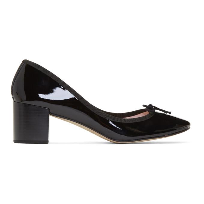 Repetto Black Patent Farah Heels