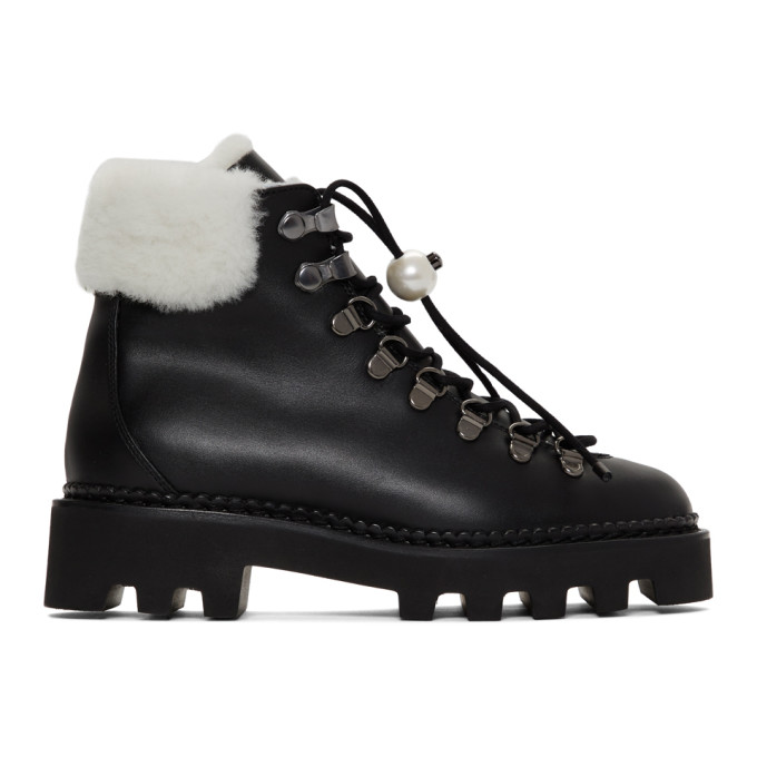 Nicholas Kirkwood Black Delfi Hiking Boots