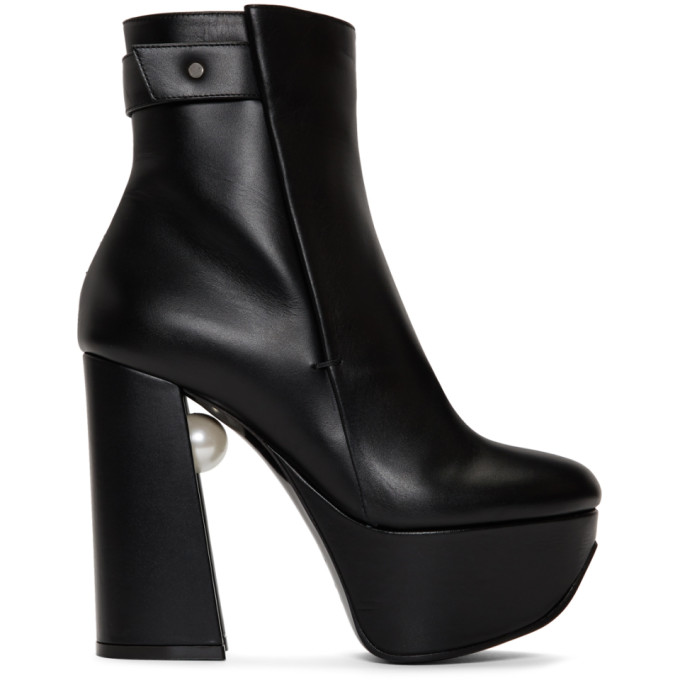 Nicholas Kirkwood Black Leather Miri Platform Boots