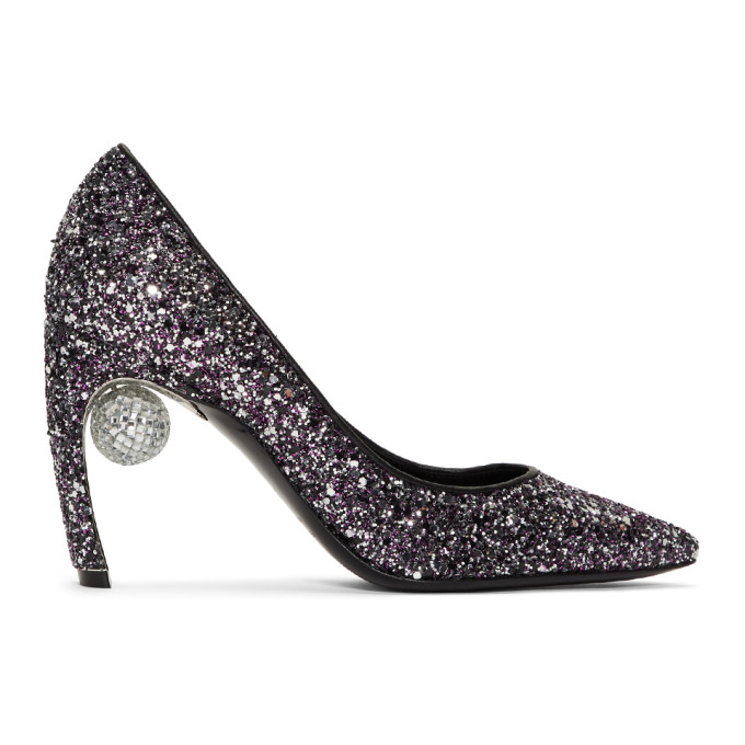 Nicholas Kirkwood Purple Glitter Maeva Pumps