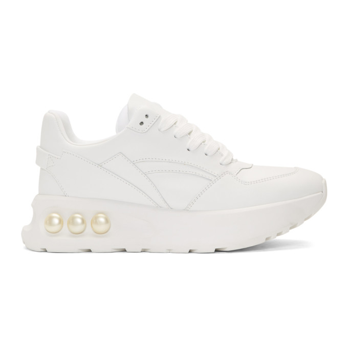 Nicholas Kirkwood White NKP3 Lace-Up Sneakers