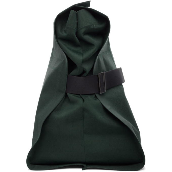 132 5 ISSEY MIYAKE Green Unstrucured Layered Backpack