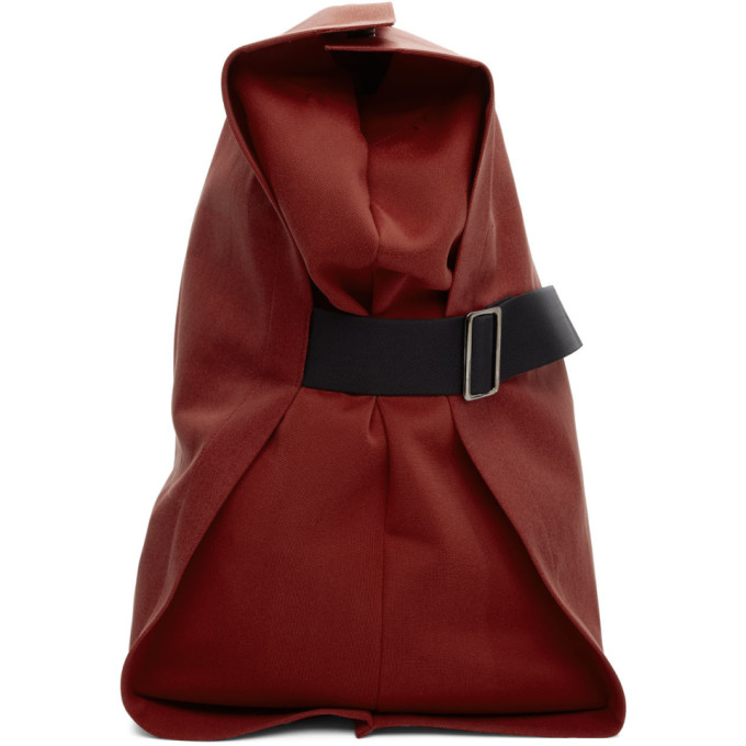 132 5 ISSEY MIYAKE Red Unstructured Layered Backpack