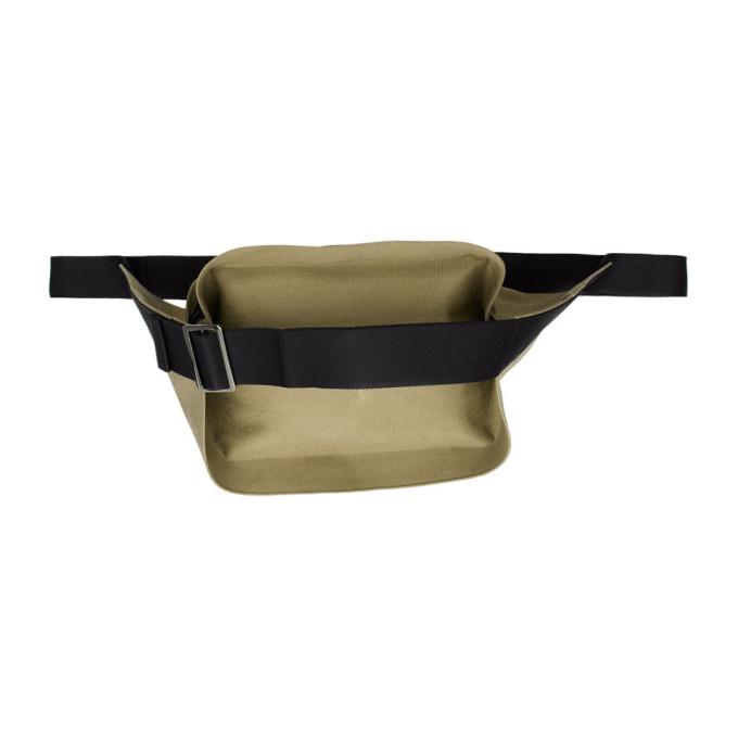 132 5 ISSEY MIYAKE Beige Cinch Strap Bum Bag