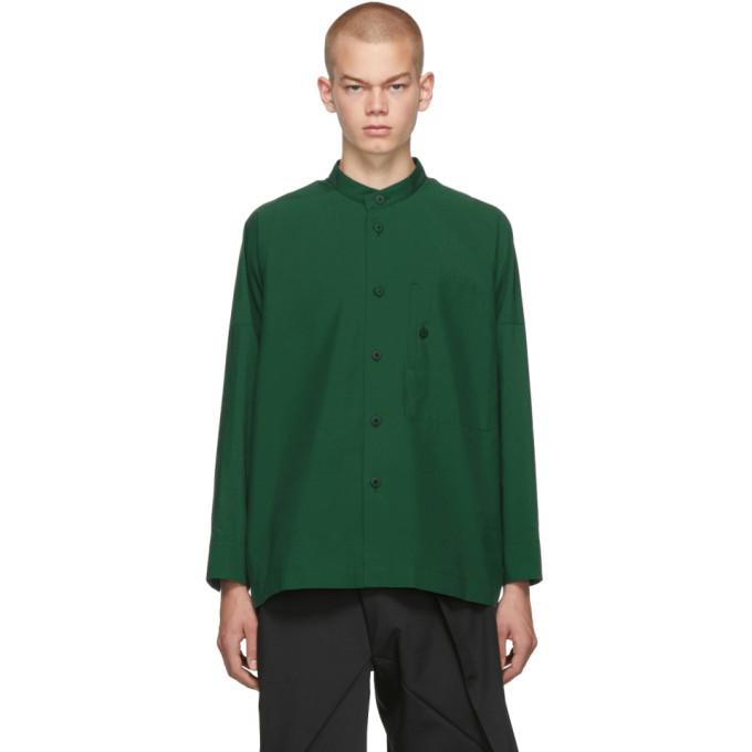 132 5 ISSEY MIYAKE Green Integrated Pocket Shirt