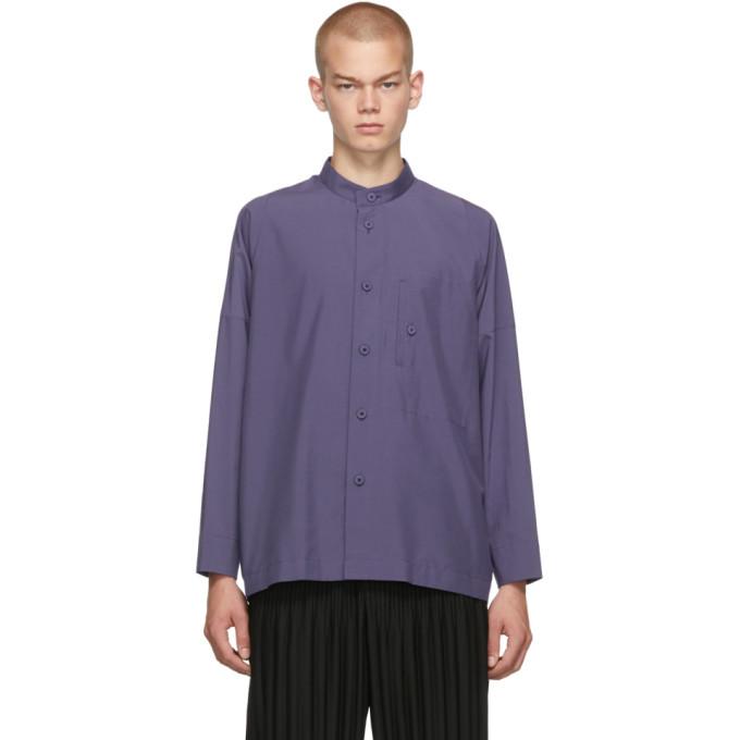 132 5 ISSEY MIYAKE Purple Integrated Pocket Shirt