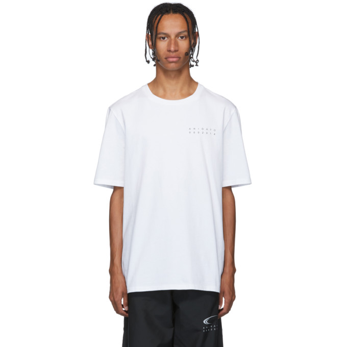 Axel Arigato T-shirt brosse blanc Tori