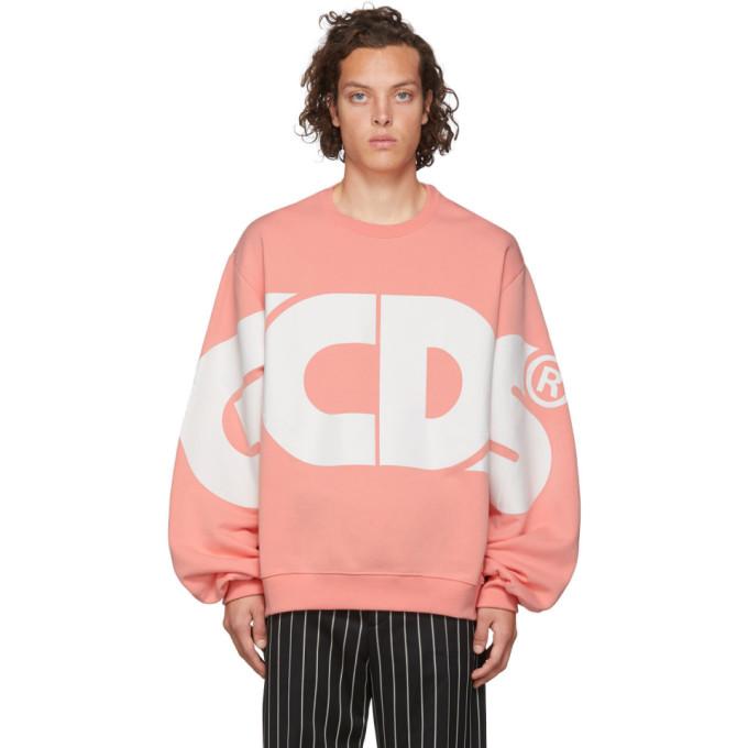 GCDS Pink Huge Logo Sweatshirt