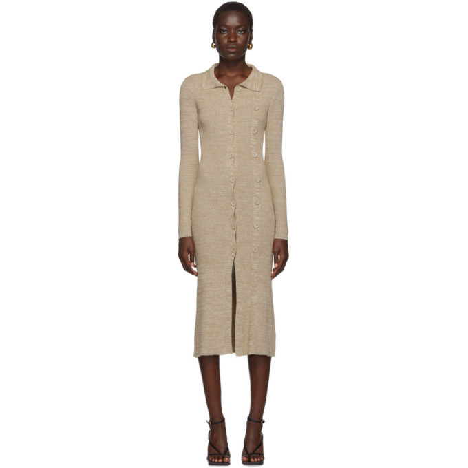 Christopher Esber Cardigan beige Double Buttoned