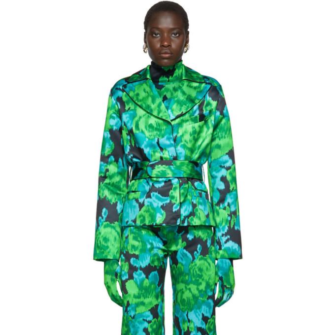Richard Quinn Blazer fleuri vert
