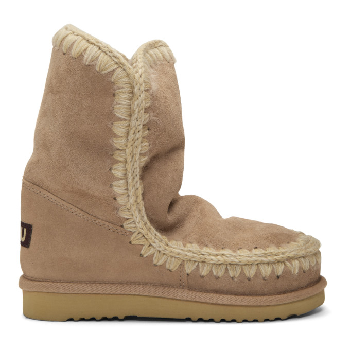 Mou Beige 24 Mid-Calf Boots