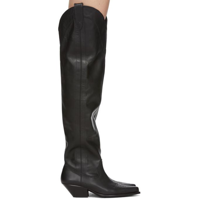 Wandering Black High Boots