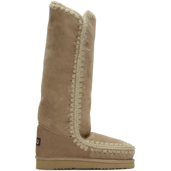 Mou Beige 40 Tall Boots