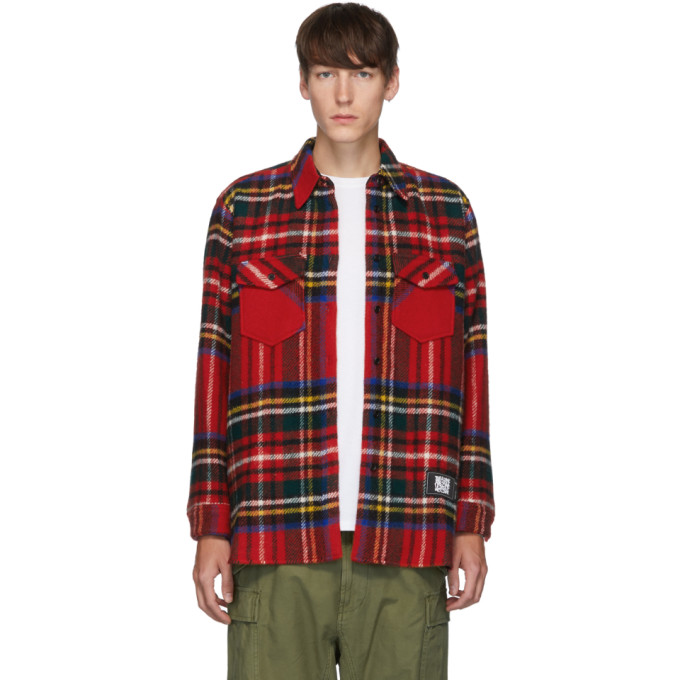 We11done Chemise rouge English Check