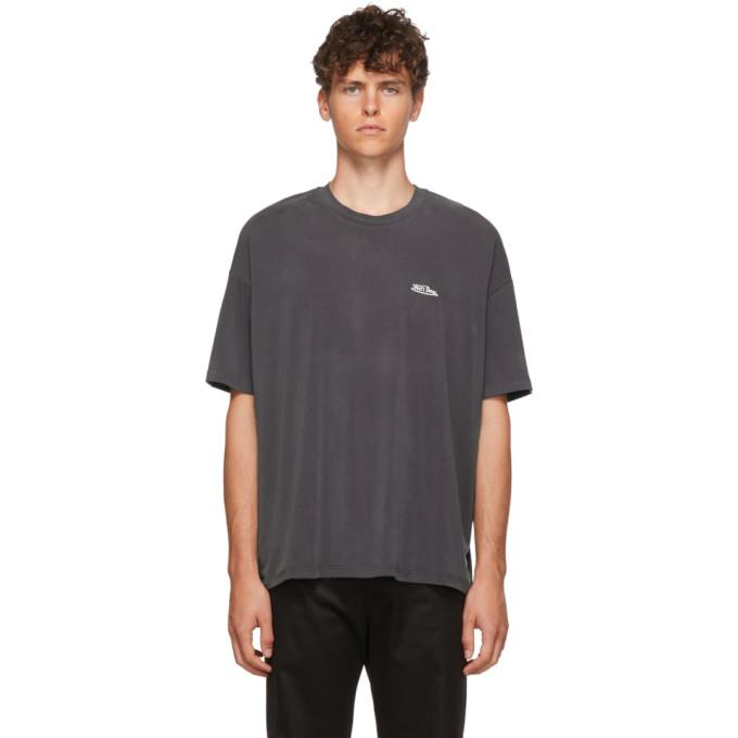 We11done T-shirt surdimensionne a logo gris